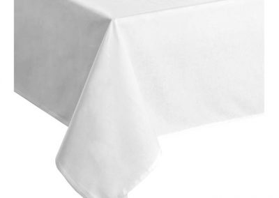 Nappe Carrée Polyester Blanche 2m40x2m40