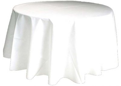 Nappe Ronde Polyester Blanche Diam 2m40