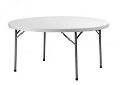 Table ronde 150cm ( 8 pers)