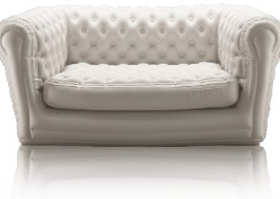 Canapé Gonflable Chesterfield Blanc (3p)